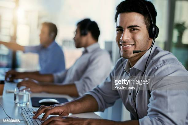 My work is only done once my callers are happy