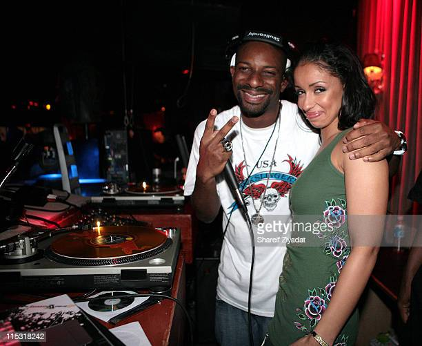 Mya and Dj Irie during Swizz Beatz and Mya at Suite April 29 2007 at Suite in New York City New York United States