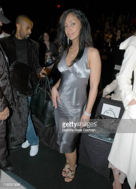 Mya at BCBG Max Azria during Olympus Fashion Week Fall 2005 BCBG Max Azria Front Row at Bryant Park in New York City New York United States
