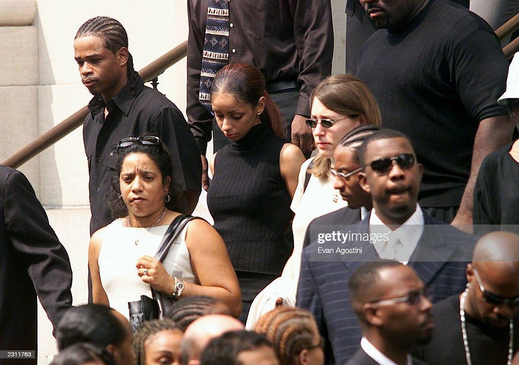 Mya at R&B singer Aaliyah's funeral at St. Ignatius Loyola Roman Catholic Church in New York City. 8/31/2001. Photo: Evan Agostini/Getty Images.