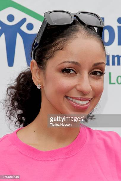Mya attends the 9th annual power women power tools build day at Sony Pictures Studios on June 15 2013 in Culver City California