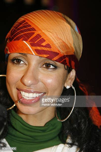 Mya attends THE TENTS at Bryant Park on February 8 2007 in New York City