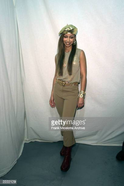 Mya backstage at MTV Fashionably Loud 2000 in MTV's New York City Studio December 7 2000