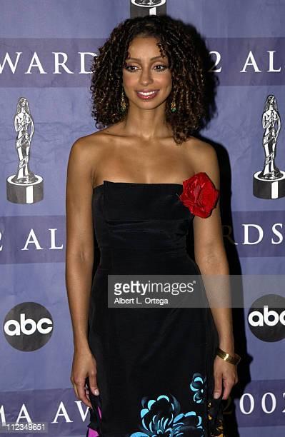 Mya during 2002 ALMA Awards Gala Press Room at The Shrine Auditorium in Los Angeles California United States