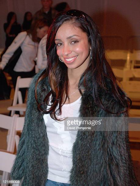 Mya during Olympus Fashion Week Fall 2005 Esteban Cortazar Front Row at The Tent Bryant Park in New York City New York United States