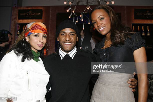 Mya Lloyd Banks and Aisha Tyler attend THE TENTS at Bryant Park on February 8 2007 in New York City