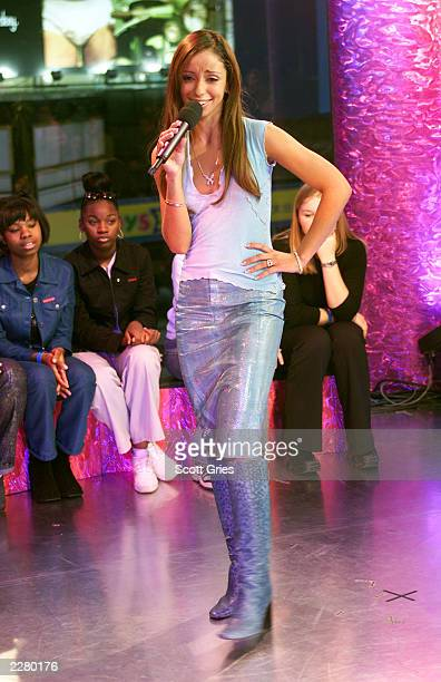 Mya on TRL during 'Spankin New Music Week' at the MTV studios In New York 11/16/00 Photo Scott Gries/ImageDirect