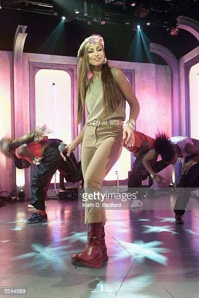 Mya performing at MTV Fashionably Loud 2000 in MTV's New York City Studio December 7 2000