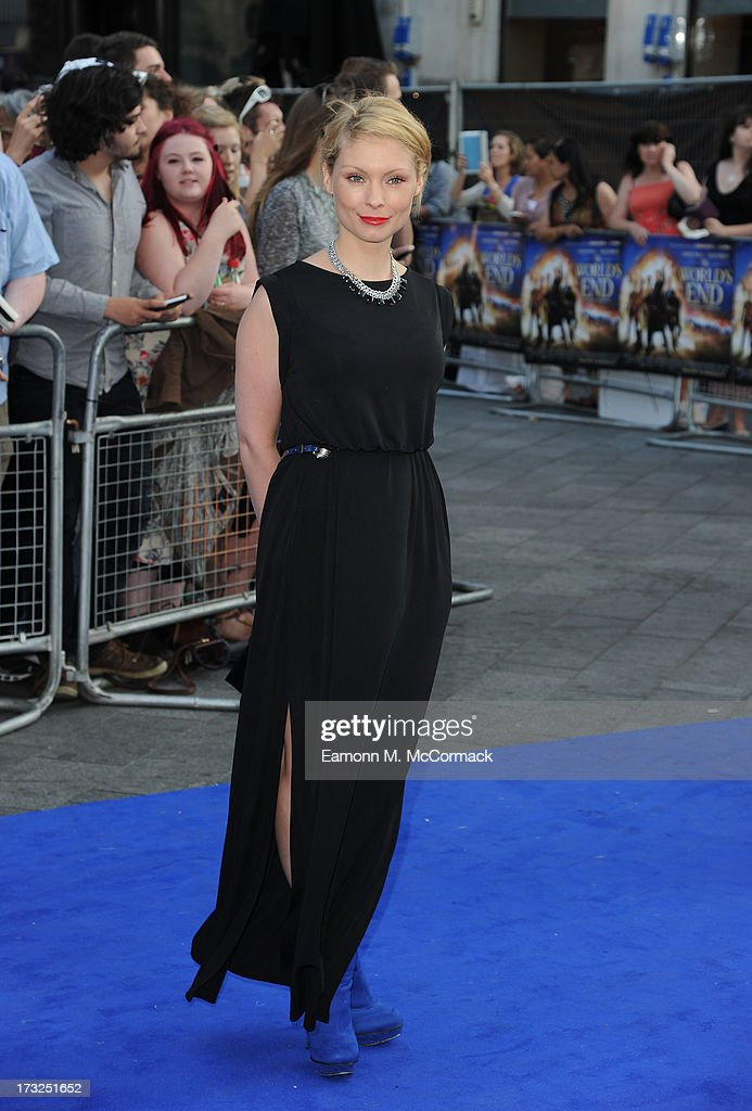 Myana Buring attends the World Premiere of 'The World's End' at Empire Leicester Square on July 10, 2013 in London, England.