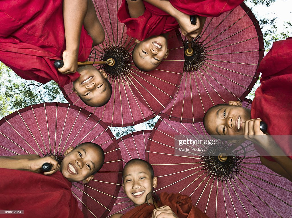 Myanmar, Bagan, young Buddhist monks