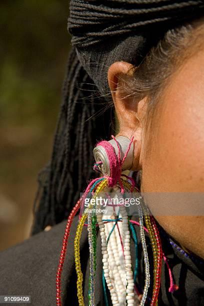 Birmanie (Myanmar): Earspool de Ann femme