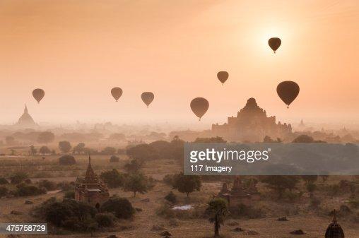 Myanmar - Misty dawn over ancient Bagan