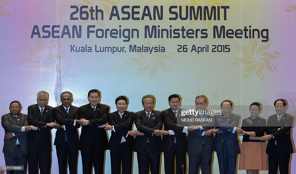Myanmar's Foreign Affairs Minister Wunna Maung Lwin Philippines' Foreign Affairs Minister Albert del Rosario Singapore's Foreign Minister K Shanmugam...