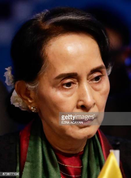 Myanmar's State Councellor and Foreign Minister Aung San Suu Kyi on during the ASEAN Canada 40th Anniversary Commemorative Summit in Manila...