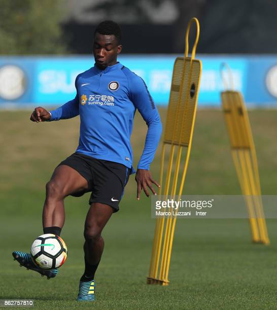 MYann Karamoh of FC Internazionale in action during the FC Internazionale training session at the club's training ground Suning Training Center in...