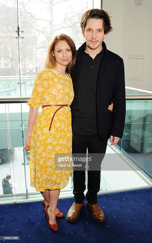 MyAnna Buring (L) and Damien Molony attend the First Light Awards at Odeon Leicester Square on March 19, 2013 in London, England.