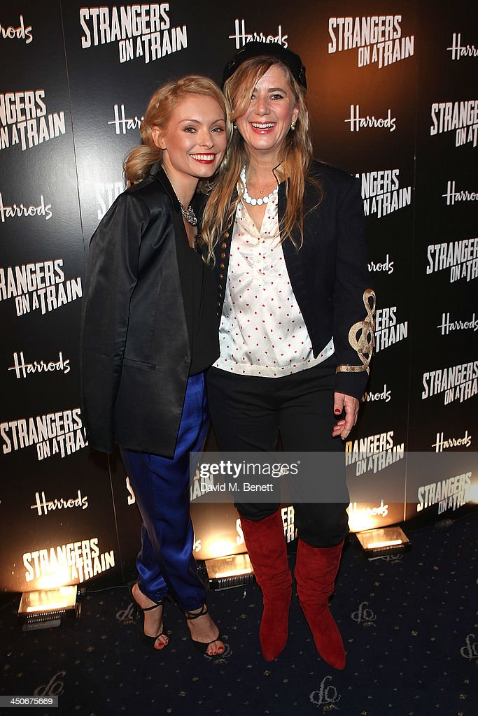 Myanna Buring and Imogen Stubbs attend an after party following the press night performance of 'Strangers On A Train' at the Cafe de Paris on November 19, 2013 in London, England.