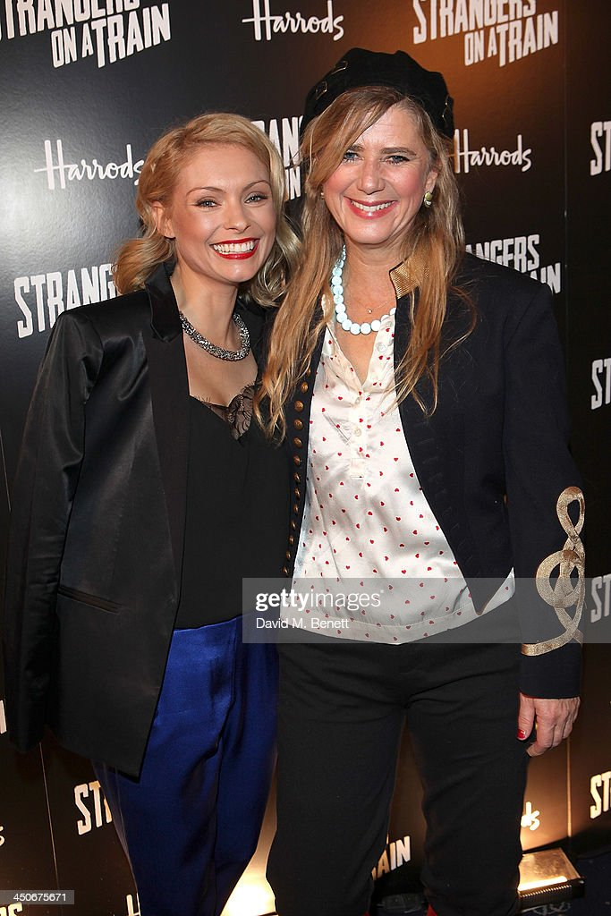 Myanna Buring and <a gi-track='captionPersonalityLinkClicked' href=/galleries/search?phrase=Imogen+Stubbs&family=editorial&specificpeople=213849 ng-click='$event.stopPropagation()'>Imogen Stubbs</a> attend an after party following the press night performance of 'Strangers On A Train' at the Cafe de Paris on November 19, 2013 in London, England.