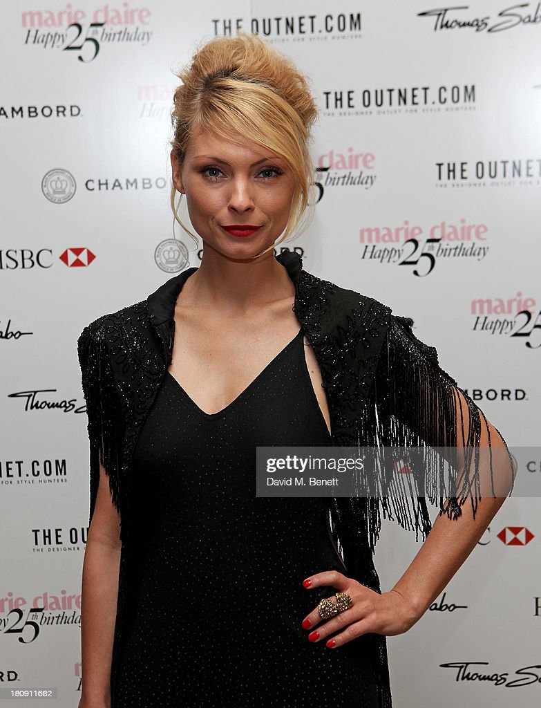 <a gi-track='captionPersonalityLinkClicked' href=/galleries/search?phrase=MyAnna+Buring&family=editorial&specificpeople=810502 ng-click='$event.stopPropagation()'>MyAnna Buring</a> arrives at the Marie Claire 25th birthday celebration featuring Icons of Our Time in association with The Outnet at the Cafe Royal Hotel on September 17, 2013 in London, England.