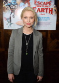 Myanna Buring attends a VIP screening of Harvey Weinstein's 'Escape From Planet Earth' at The W Hotel on February 27 2014 in London England