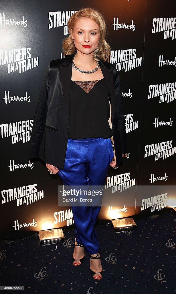 Myanna Buring attends an after party following the press night performance of 'Strangers On A Train' at the Cafe de Paris on November 19, 2013 in London, England.