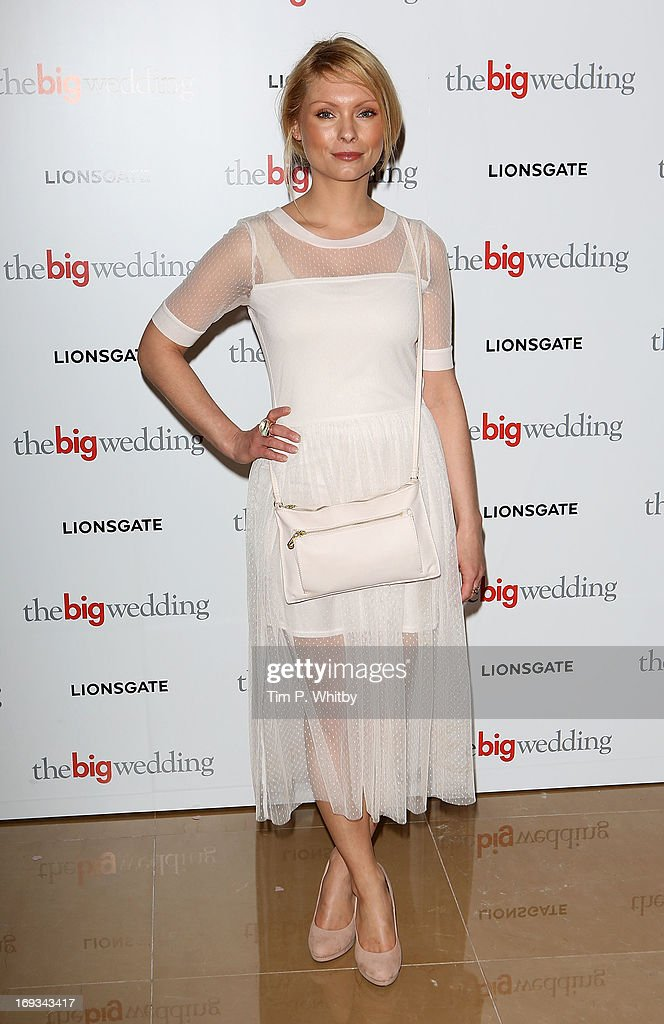 Myanna Buring attends Special screening of 'The Big Wedding' at May Fair Hotel on May 23, 2013 in London, England.