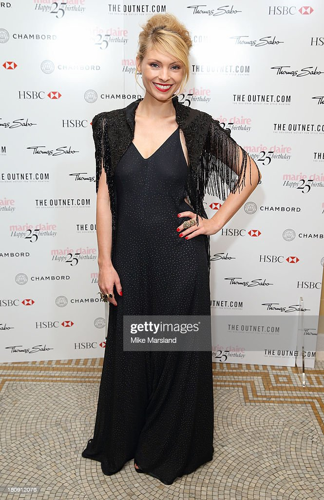 MyAnna Buring attends the 25th birthday party of Marie Claire at Hotel Cafe Royal on September 17, 2013 in London, England.