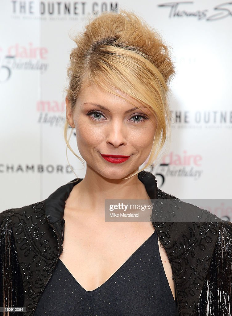 <a gi-track='captionPersonalityLinkClicked' href=/galleries/search?phrase=MyAnna+Buring&family=editorial&specificpeople=810502 ng-click='$event.stopPropagation()'>MyAnna Buring</a> attends the 25th birthday party of Marie Claire at Hotel Cafe Royal on September 17, 2013 in London, England.