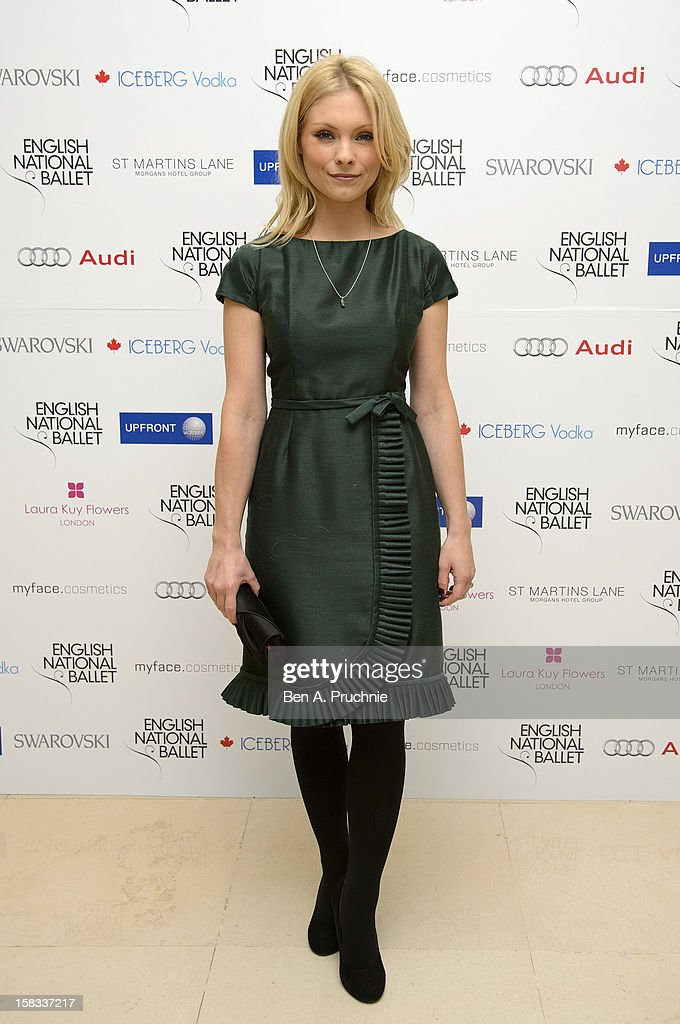 Myanna Buring attends the English National Ballets Christmas Party at St Martins Lane Hotel on December 13, 2012 in London, England.