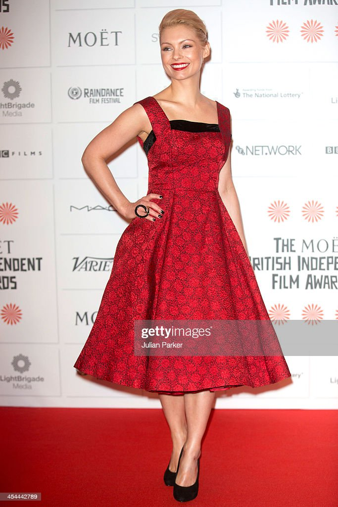 <a gi-track='captionPersonalityLinkClicked' href=/galleries/search?phrase=MyAnna+Buring&family=editorial&specificpeople=810502 ng-click='$event.stopPropagation()'>MyAnna Buring</a> attends the Moet British Independent Film awards at Old Billingsgate Market on December 8, 2013 in London, England.