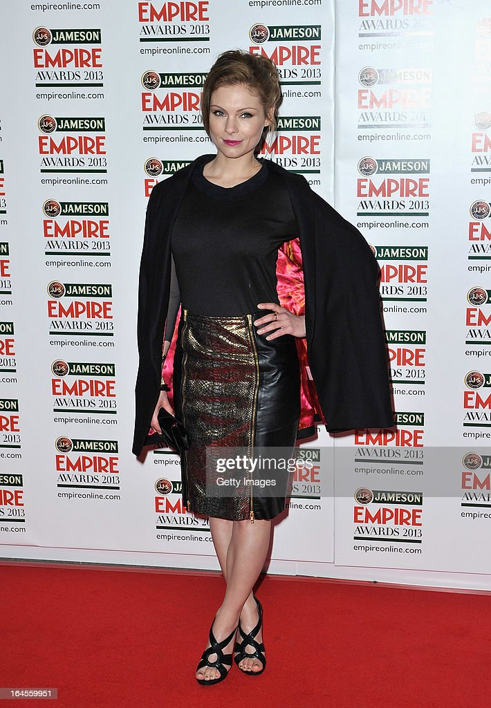 MyAnna Buring is pictured arriving at the Jameson Empire Awards at Grosvenor House on March 24, 2013 in London, England. Renowned for being one of the most laid-back awards shows in the British movie calendar, the Jameson Empire Awards celebrate the film industry's success stories of the year with Empire Magazine readers voting for the winners. Visit empireonline.com/awards2013 for more information.
