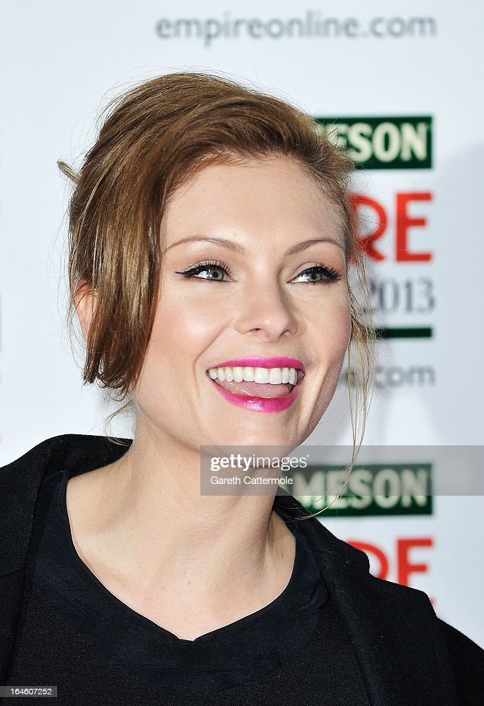 MyAnna Buring is pictured arriving at the Jameson Empire Awards at Grosvenor House on March 24, 2013 in London, England.