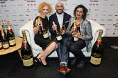 MyAnna Buring Yann Demange winner of the Best Director award for ''71' and Meera Syal pose at The Moet British Independent Film Awards 2014 at Old...