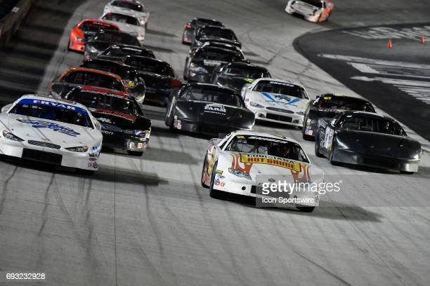 Myatt Snider Toyota Camry races Jared Fryar Ford Fusion in the Short Track US Nationals LeftTurnsandSunburnscom 100 CARS Late Model Stock Tour event...