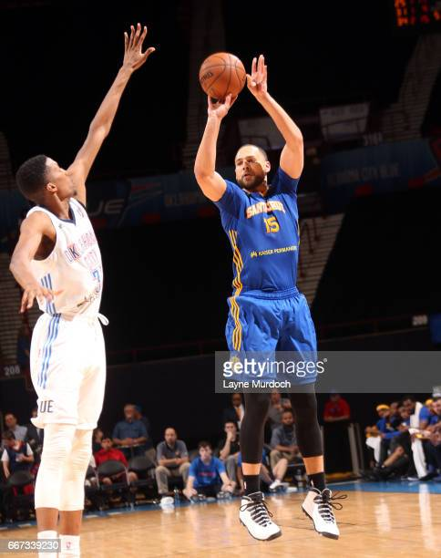 Mychael Thompson of the Santa Cruz Warriors shoots the ball against the Oklahoma City Blue during the first round of an NBA DLeague playoff game on...