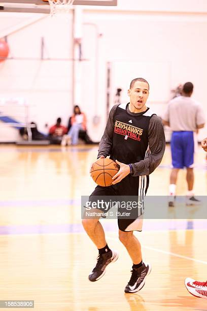 Mychel Thompson of the Erie Bayhawks practices on December 18 2012 at the Knicks Training Facility in Greenburgh New York NOTE TO USER User expressly...