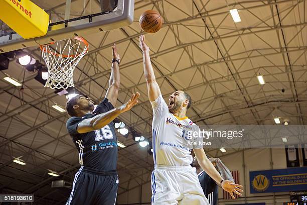 Mychel Thompson of the Santa Cruz drives to the basket during an NBA DLeague game against the Austin Spurs on March 27 2016 in Santa Cruz California...