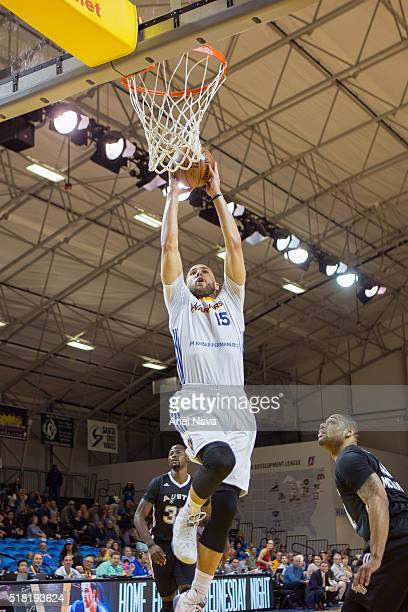 Mychel Thompson of the Santa Cruz dunks the ball during an NBA DLeague game against the Austin Spurs on March 27 2016 in Santa Cruz California at...