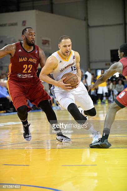 Mychel Thompson of the Santa Cruz Warriors drives against Ramon Harris of the Fort Wayne Mad Ants in Game Two of the NBA DLeague Finals on April 26...