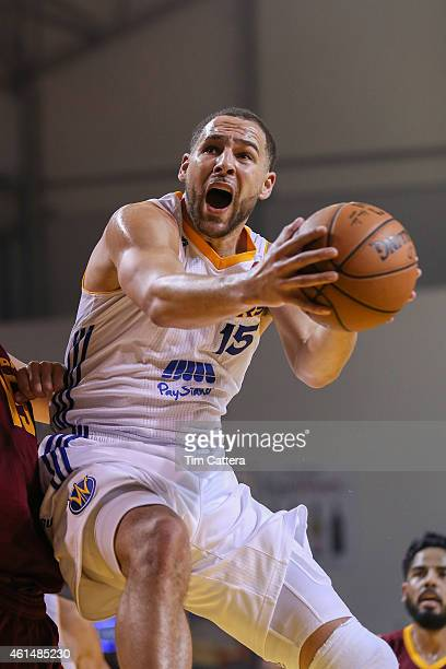 Mychel Thompson of the Santa Cruz Warriors drives to the basket against the Canton Charge during an NBA DLeague game on January 3 2015 at Kaiser...