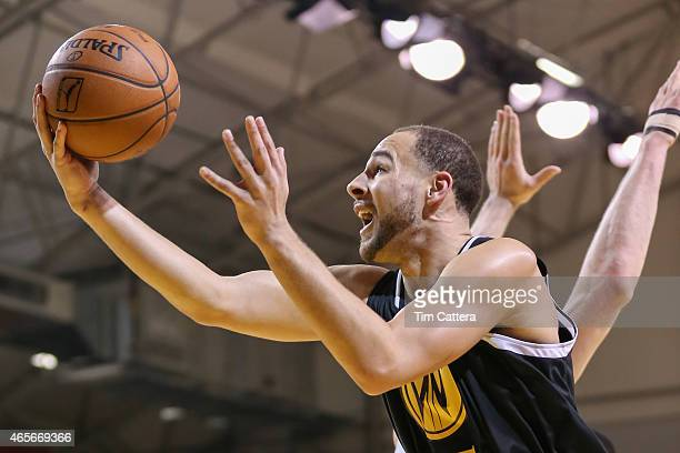 Mychel Thompson of the Santa Cruz Warriors shoots a layup against the Idaho Stampede during an NBA DLeague game on March 6 2015 at Kaiser Permanente...