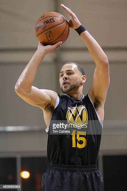 Mychel Thompson of the Santa Cruz Warriors shoots a shot against the Idaho Stampede during an NBA DLeague game on March 6 2015 at Kaiser Permanente...