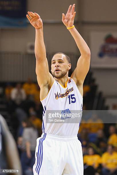 Mychel Thompson of the Santa Cruz Warriors shoots a shot against the Austin Spurs during the Western Conference Final NBA DLeague game on April 20...