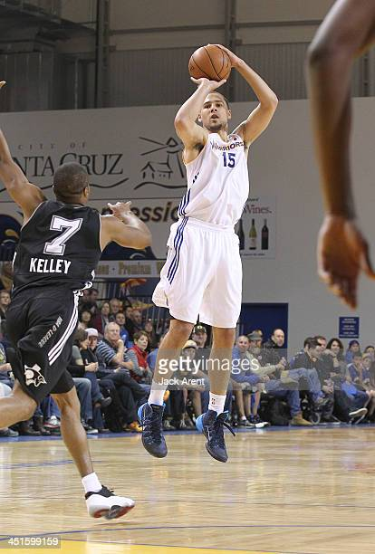 Mychel Thompson of the Santa Cruz Warriors shoots the ball against of the Austin Toros during during the Warriors season opener on November 22 2013...