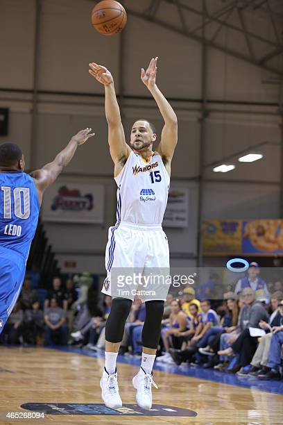 Mychel Thompson of the Santa Cruz Warriors shoots the ball against the Texas Legends during an NBA DLeague game on March 4 2015 at Kaiser Permanente...