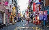 Myeongdong district of Seoul, South Korea