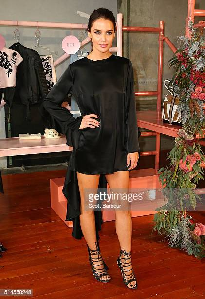 Myer Ambassador Jodi Anasta poses at the Myer Contemporary Brands Collections at the George Ballroom on March 10 2016 in Melbourne Australia