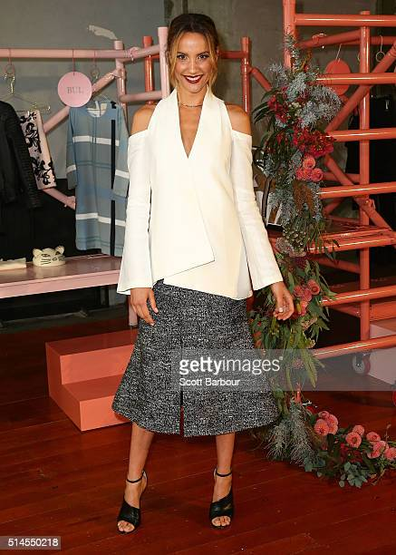 Myer Ambassador Rachael Finch poses at the Myer Contemporary Brands Collections at the George Ballroom on March 10 2016 in Melbourne Australia