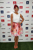 Myer Fashions on the Field Ambassador Rebecca Bramich poses at the 2013 Melbourne Cup Carnival Launch at Flemington Racecourse on October 28 2013 in...