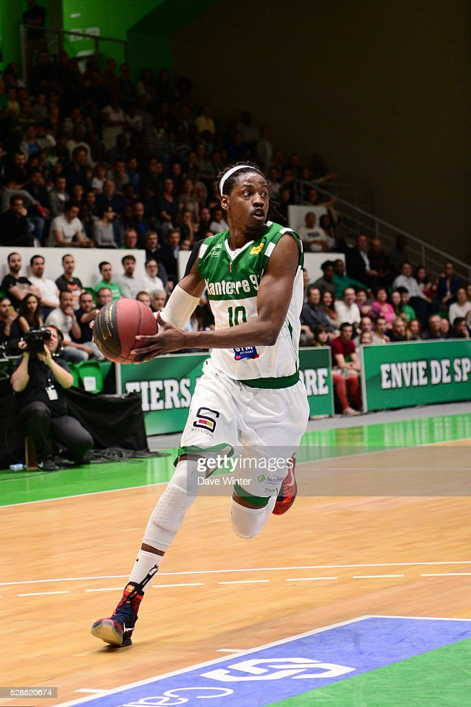 Mykal Riley of Nanterre during the basketball French Pro A League match between Nanterre and Paris Levallois on May 5, 2016 in Nanterre, France.